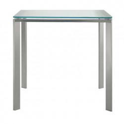 Logico table carrée, Pedrali, plateau en verre dépoli 80x80cm