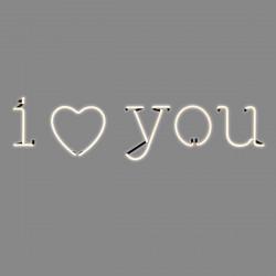I love you, phrase néon, Seletti blanc