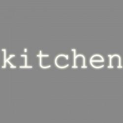 Kitchen, mot néon, Seletti blanc