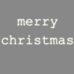 Merry Christmas, phrase néon, Seletti blanc