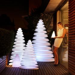Sapin lumineux Chrismy, Vondom blanc Hauteur 100 cm
