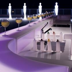 Module Bar Baraonda station cocktail avec évier, version lumineuse Led RGBW