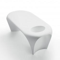 Table basse design Lily avec bac à glace, MyYour blanc