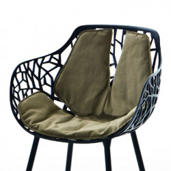 Coussin Fauteuil Forest, Fast taupe