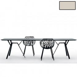 Table rectangulaire Radice Quadra, Fast or perlé Longueur 150 cm