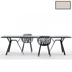 Table rectangulaire Radice Quadra, Fast or perlé Longueur 290 cm