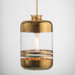 Suspension à rayures métalliques, Ebb & Flow transparent, rayures or