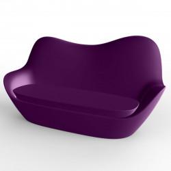 Sofa Sabinas, Vondom violet, coussins Silvertex prune