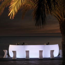 Bar Design Fiesta, module droit 180x80xH115cm, Vondom lumineux Leds blancs