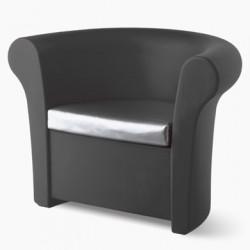 Fauteuil Kalla, Slide Design gris Mat