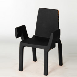 Chaise Doublix, Slide Design noir