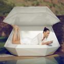 Daybed chaise longue design avec Parasol Faz, Vondom blanc