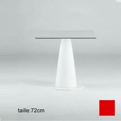 Table carrée Hoplà, Slide rouge 69x69xH72 cm