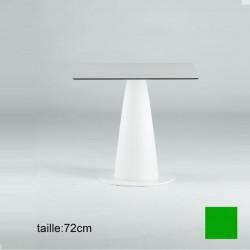 Table carrée Hoplà, Slide vert 69x69xH72 cm