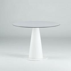 Table ronde Hoplà, Slide design blanc D79xH72 cm