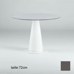 Table ronde Hoplà, Slide design gris D79xH72 cm