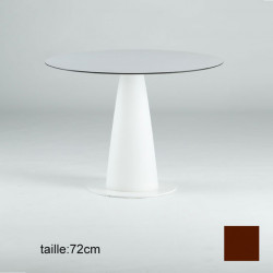 Table ronde Hoplà, Slide design chocolat D79xH72 cm