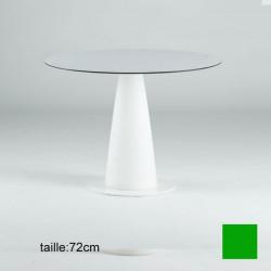 Table ronde Hoplà, Slide design vert D79xH72 cm