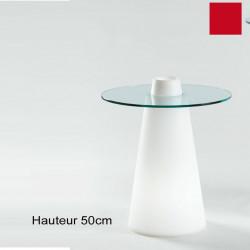 Table Peak 50, Slide Design rouge D70xH50 cm