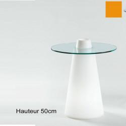 Table Peak 50, Slide Design orange D70xH50 cm