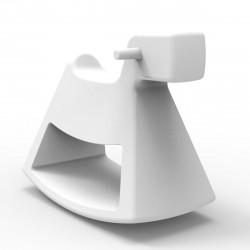 Chaise à bascule Rosinante, Vondom blanc Grand modèle