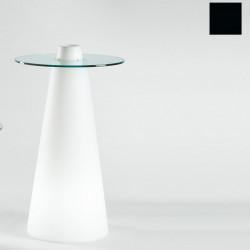 Table de bar Peak, Slide Design noir D80xH80 cm