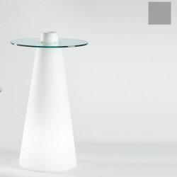 Table de bar Peak, Slide Design silver D70xH120 cm