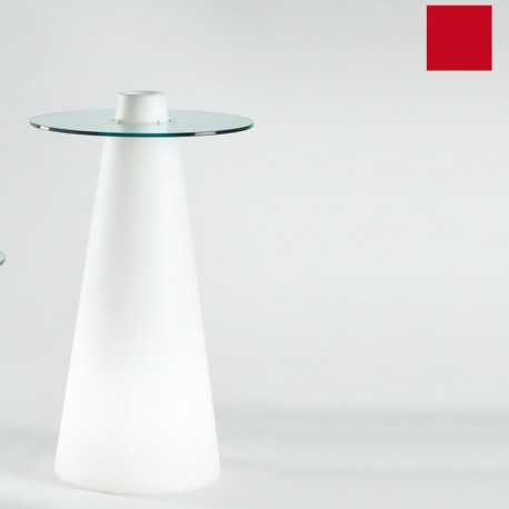 Table de bar Peak, Slide Design rouge D80xH120 cm