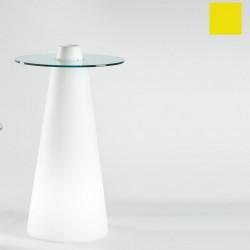 Table de bar Peak, Slide Design jaune D80xH120 cm