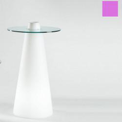 Table de bar Peak, Slide Design magenta D80xH120 cm