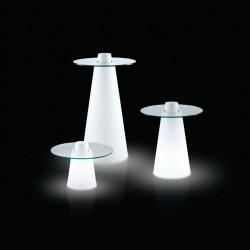 Table de bar Peak, Slide Design lumineux 80x80xH120 cm