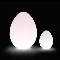 Lampe Dino Outdoor, Slide Design blanc D117xH160 cm