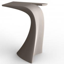 Table haute design Wing, Vondom taupe Mat
