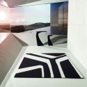 Table haute design Wing, Vondom kaki Mat