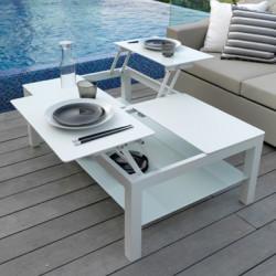 Table basse avec plateaux Chic, Talenti blanc