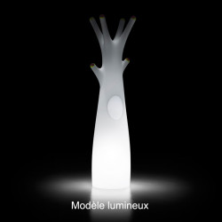 Porte-manteau arbre design Godot, Lumineux à ampoule pour l\'intérieur, Plust Collection, embouts gris