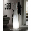 Porte-manteau arbre design Godot, Plust Collection blanc, embouts verts Lumineux à ampoule
