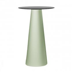 Mange debout design Fura rond, Plust Collection base romarin, plateau noir diamètre 60 cm