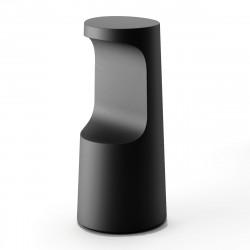 Tabouret haut design Fura, Plust Collection noir perlé