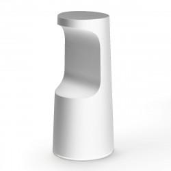 Tabouret haut design Fura, Plust Collection blanc