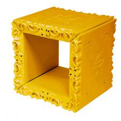 Cube-étagère design Joker of Love, Design of Love by Slide jaune