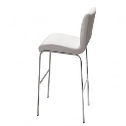 Tabouret design Stone, hauteur d'assise 75 cm, Midj blanc