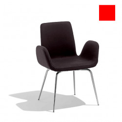Chaise design Light, Midj rouge