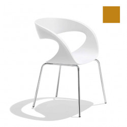 Chaise design Raff pieds simples, Midj ocre