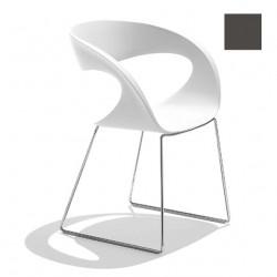 Chaise design Raff pieds doubles, Midj gris foncé