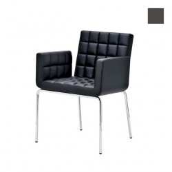 Chaise design Marsiglia, Midj gris foncé