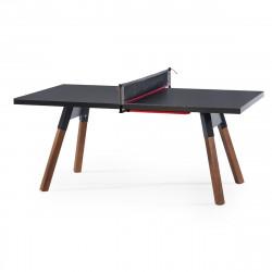 Table à manger ou Table de ping pong You & Me, RS Barcelona noir 180x100 cm
