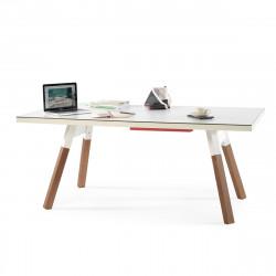 Table à manger ou Table de ping pong You & Me, RS Barcelona blanc 220x120 cm