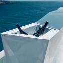 Bar central avec seau à glace Faz, Vondom blanc Mat