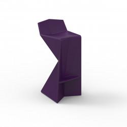 Tabouret design Vertex, Vondom violet Mat